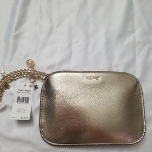 Nine West Gold Metallic Clutch